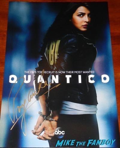 Priyanka Chopra signed autograph quantico poster