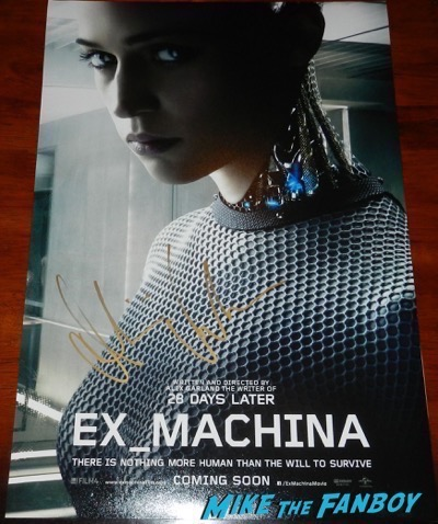 Alicia Vikander signed autograph Ex-Machina character poster
