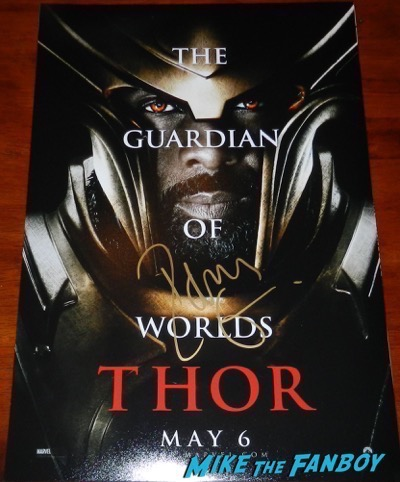 Idris Elba signed autograph Thor character poster
