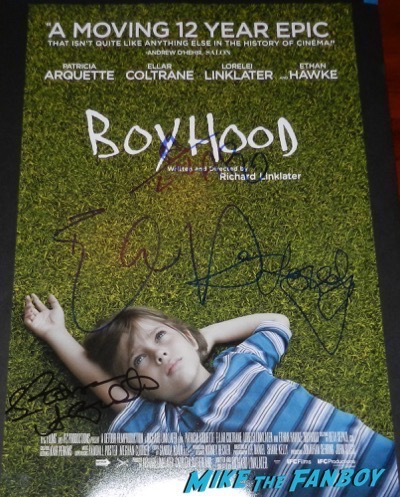 Patricia Arquette signed autograph boyhood poster
