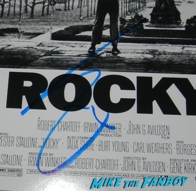 Sylvester Stallone signed autograph rocky poster psa