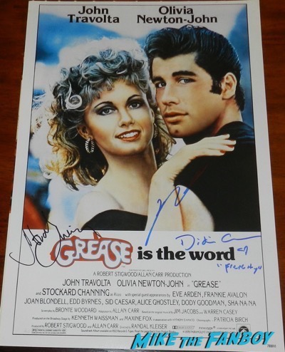 John travolta signed grease poster