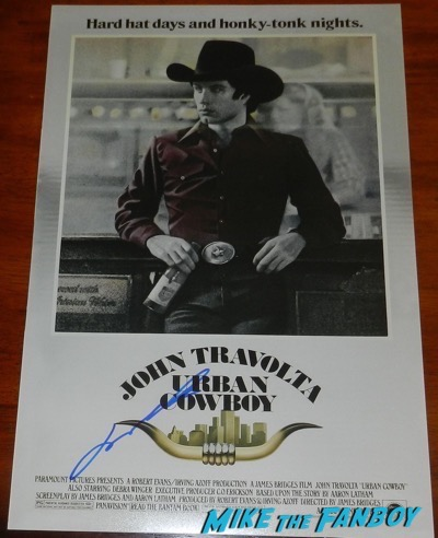 John travolta signed urban cowboy poster