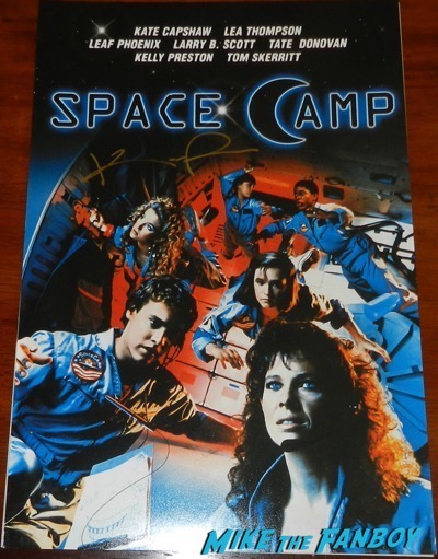 kelly preston signed spacecamp poster