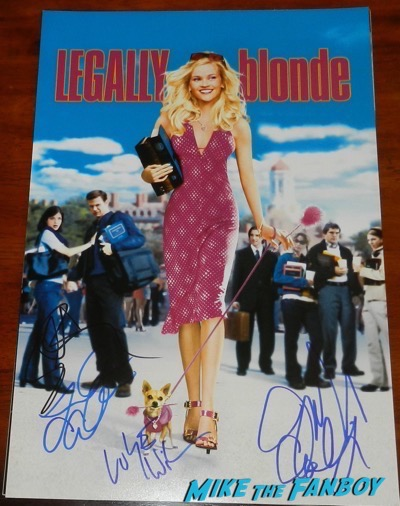 selma blair signed autograph legally blonde poster