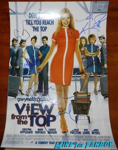 kelly preston signed a view from the top poster