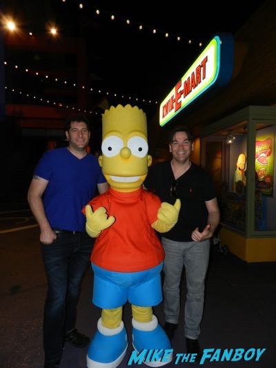 Bart Simpson universal studios mike the fanboy