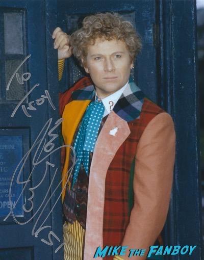 Colin baker signed autograph photo rare psa
