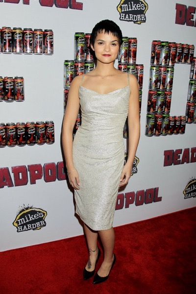 "- New York, NY - 20th Century Fox Presents the New York Fan Event for ""DEADPOOL"". The Film Opens Nationwide on February 12th, 2016  -PICTURED: Brianna Hildebrand -PHOTO by: Dave Allocca/Startraksphoto.com -Filename: DA_16_01061040.JPG -Location: AMC Empire Times Square  Editorial - Rights Managed Image - Please contact www.startraksphoto.com for licensing fee Startraks Photo New York, NY Image may not be published in any way that is or might be deemed defamatory, libelous, pornographic, or obscene. Please consult our sales department for any clarification or question you may have.  Startraks Photo reserves the right to pursue unauthorized users of this image. If you violate our intellectual property you may be liable for actual damages, loss of income, and profits you derive from the use of this image, and where appropriate, the cost of collection and/or statutory damages."
