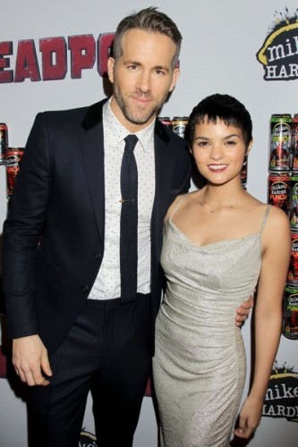 """- New York, NY - 20th Century Fox Presents the New York Fan Event for """"DEADPOOL"""". The Film Opens Nationwide on February 12th, 2016 -PICTURED: Ryan Reynolds, Brianna Hildebrand -PHOTO by: Dave Allocca/Startraksphoto.com -Filename: DA_16_01061077.JPG -Location: AMC Empire Times Square Editorial - Rights Managed Image - Please contact www.startraksphoto.com for licensing fee Startraks Photo New York, NY Image may not be published in any way that is or might be deemed defamatory, libelous, pornographic, or obscene. Please consult our sales department for any clarification or question you may have. Startraks Photo reserves the right to pursue unauthorized users of this image. If you violate our intellectual property you may be liable for actual damages, loss of income, and profits you derive from the use of this image, and where appropriate, the cost of collection and/or statutory damages."""