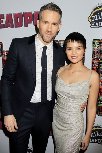 "- New York, NY - 20th Century Fox Presents the New York Fan Event for ""DEADPOOL"". The Film Opens Nationwide on February 12th, 2016  -PICTURED: Ryan Reynolds, Brianna Hildebrand -PHOTO by: Dave Allocca/Startraksphoto.com -Filename: DA_16_01061077.JPG -Location: AMC Empire Times Square  Editorial - Rights Managed Image - Please contact www.startraksphoto.com for licensing fee Startraks Photo New York, NY Image may not be published in any way that is or might be deemed defamatory, libelous, pornographic, or obscene. Please consult our sales department for any clarification or question you may have.  Startraks Photo reserves the right to pursue unauthorized users of this image. If you violate our intellectual property you may be liable for actual damages, loss of income, and profits you derive from the use of this image, and where appropriate, the cost of collection and/or statutory damages."