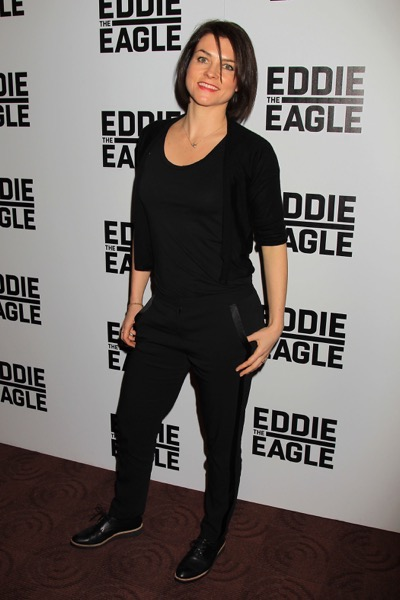 "- New York, NY - A special New York Screening of ""Eddie The Eagle"" . The Film stars Hugh Jackman ,Taron Egerton and was directed by Dexter Fletcher . Eddie The Eagle opens February 26th . -PICTURED: Holly Davidson -PHOTO by: Dave Allocca/Starpix -Filename: DA_16_6626.JPG -Location: Bow Ties Chelsea Cinemas  Editorial - Rights Managed Image - Please contact www.startraksphoto.com for licensing fee Startraks Photo New York, NY Image may not be published in any way that is or might be deemed defamatory, libelous, pornographic, or obscene. Please consult our sales department for any clarification or question you may have.  Startraks Photo reserves the right to pursue unauthorized users of this image. If you violate our intellectual property you may be liable for actual damages, loss of income, and profits you derive from the use of this image, and where appropriate, the cost of collection and/or statutory damages."