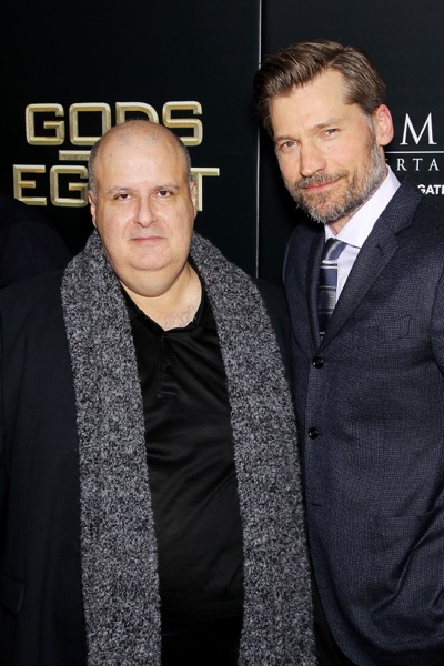 "- New York, NY - 2/24/16 - Summit Entertainment - A Lionsgate Company Presents the New York Premiere of ""Gods of Egypt""   -PICTURED: Alex Proyas (Writer,Director), Nikolaj Coster-Waldau -PHOTO by: Marion Curtis/StarPix -FILENAME: MC_16_01084036.JPG -LOCATION: AMC Lowes Lincoln Square 13  Startraks Photo New York,  NY For licensing please call 212-414-9464  or email sales@startraksphoto.com Image may not be published in any way that is or might be deemed defamatory, libelous, pornographic, or obscene. Please consult our sales department for any clarification or question you may have. Startraks Photo reserves the right to pursue unauthorized users of this image. If you violate our intellectual property you may be liable for actual damages, loss of income, and profits you derive from the use of this image, and where appropriate, the cost of collection and/or statutory damages."