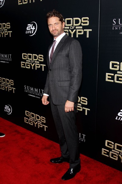 "- New York, NY - 2/24/16 - Summit Entertainment - A Lionsgate Company Presents the New York Premiere of ""Gods of Egypt""   -PICTURED: Gerard Butler -PHOTO by: Marion Curtis/StarPix -FILENAME: MC_16_01084064.JPG -LOCATION: AMC Lowes Lincoln Square 13  Startraks Photo New York,  NY For licensing please call 212-414-9464  or email sales@startraksphoto.com Image may not be published in any way that is or might be deemed defamatory, libelous, pornographic, or obscene. Please consult our sales department for any clarification or question you may have. Startraks Photo reserves the right to pursue unauthorized users of this image. If you violate our intellectual property you may be liable for actual damages, loss of income, and profits you derive from the use of this image, and where appropriate, the cost of collection and/or statutory damages."
