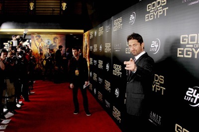 """- New York, NY - 2/24/16 - Summit Entertainment - A Lionsgate Company Presents the New York Premiere of """"Gods of Egypt""""   -PICTURED: Gerard Butler -PHOTO by: Marion Curtis/StarPix -FILENAME: MC_16_01084077.JPG -LOCATION: AMC Lowes Lincoln Square 13  Startraks Photo New York,  NY For licensing please call 212-414-9464  or email sales@startraksphoto.com Image may not be published in any way that is or might be deemed defamatory, libelous, pornographic, or obscene. Please consult our sales department for any clarification or question you may have. Startraks Photo reserves the right to pursue unauthorized users of this image. If you violate our intellectual property you may be liable for actual damages, loss of income, and profits you derive from the use of this image, and where appropriate, the cost of collection and/or statutory damages."""