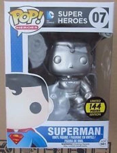 Silver DC Comics Superman Funko Pop!  most expensive funko pop figures 2