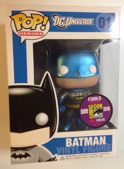 Metallic Blue Batman San Diego Comic Con 2010 Exclusive most expensive funko pop figures 5