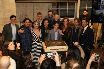 "ONCE UPON A TIME - The cast and crew of ""Once Upon a Time"" celebrated the series' 100th episode on location in Storybrooke. The 100th episode, entitled ""Souls of the Departed,"" airs SUNDAY, MARCH 6 (8:00-9:00 p.m. EST) , on the ABC Television Network. (ABC/Jack Rowand) ANDREW CHAMBLISS (EXECUTIVE PRODUCER, ONCE UPON A TIME), COLIN O'DONOGHUE, ADAM HOROWITZ (EXECUTIVE PRODUCER, ONCE UPON A TIME), JENNIFER MORRISON, STEVE PEARLMAN (EXECUTIVE PRODUCER, ONCE UPON A TIME), LANA PARRILLA, EDWARD KITSIS (EXECUTIVE PRODUCER, ONCE UPON A TIME), JARED GILMORE, JOSH DALLAS, REBECCA MADER, ROBERT CARLYLE, SEAN MAGUIRE"
