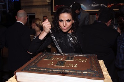 """ONCE UPON A TIME - The cast and crew of """"Once Upon a Time"""" celebrated the series' 100th episode on location in Storybrooke. The 100th episode, entitled """"Souls of the Departed,"""" airs SUNDAY, MARCH 6 (8:00-9:00 p.m. EST) , on the ABC Television Network. (ABC/Jack Rowand) LANA PARRILLA"""