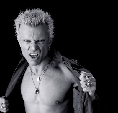 Billy Idol shirtless fan photo