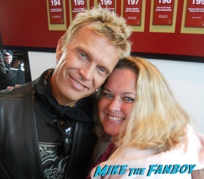 Billy idol fan photo signing autographs 20161