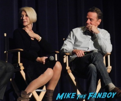 Bryan Cranston Helen Mirren Dissing Fans Trumbo q and a 16