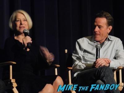 Bryan Cranston Helen Mirren Dissing Fans Trumbo q and a 24