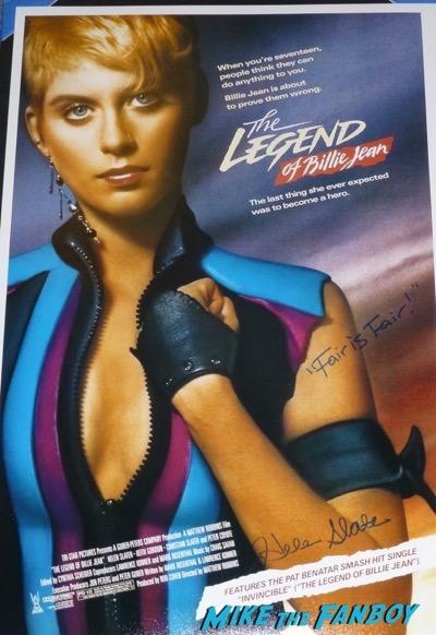 Helen Slater signed autograph the legend of billie jean poster