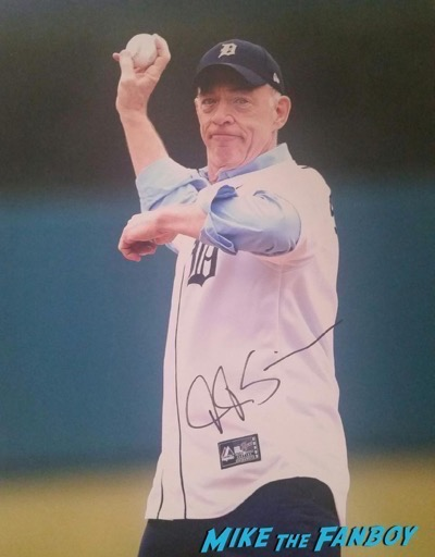 JK Simmons signed autograph baseball photo