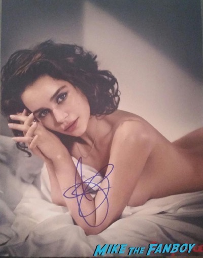 Emilia Clarke signed autogarph photo Independant spirit awards 20168