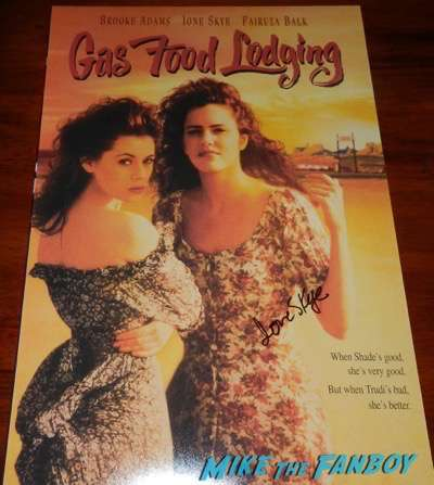 Ione Skye signed autograph gas food lodging mini poster 1
