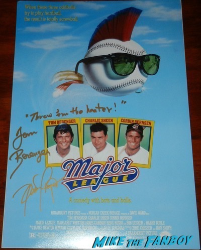 Dennis Haysbert signed autograph major league poster