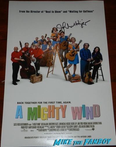John Michael Higgins signed autograph poster 12