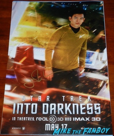 Jon Cho signed autograph star trek into darkness individual promo poster character sulu
