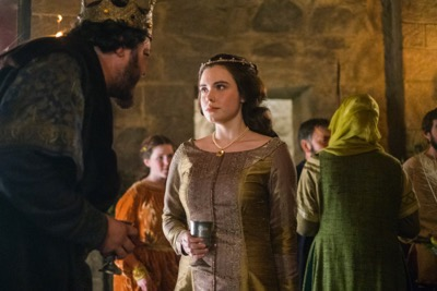 vikings seasno 4 yol Judith, played by Jennie Jacques with her father King Aelle (Ivan Kaye), cr_ Bernard Walsh