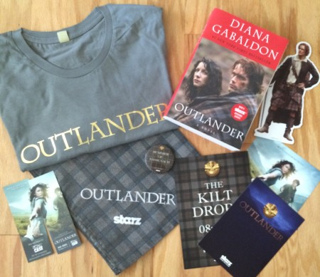 Outlander s2 media blitz prize pack