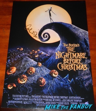 A nightmare Before Christmas signed autograph poster catherine O'Hara