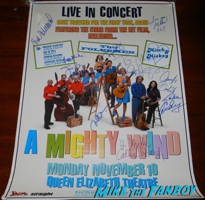 eugene levy signed autograph A Mighty Wind concert poster
