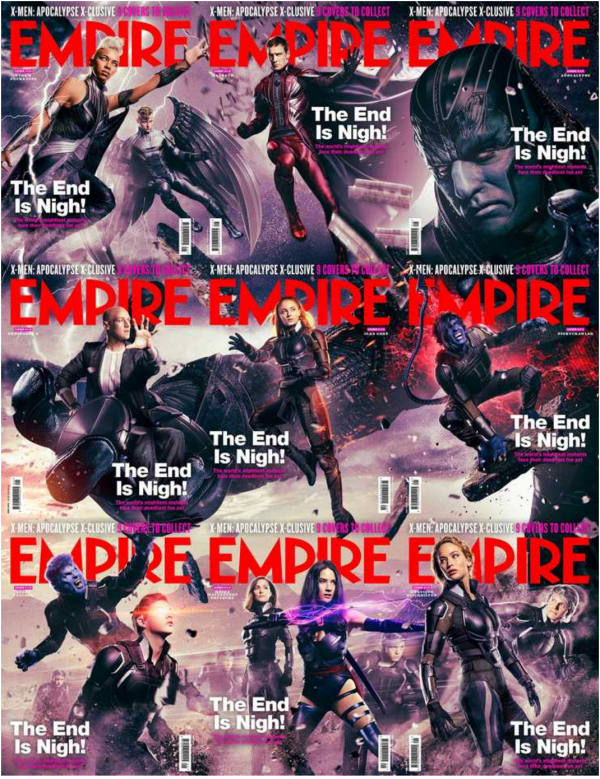 X-Men: Apocalypse empire magazine cover