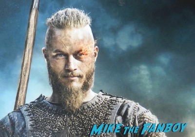 Travis Fimmel signed autograph vikings mini poster PSA3