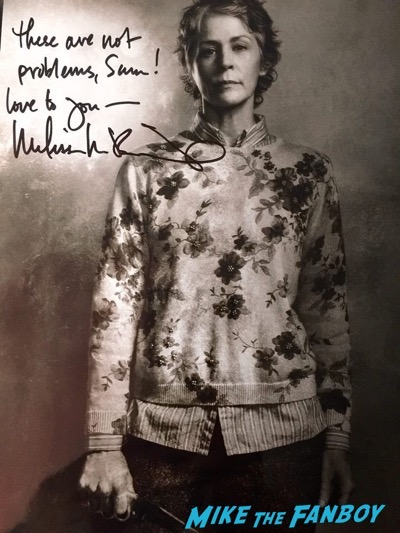 Melissa McBride signed autograph photo Walker Stalker Con2