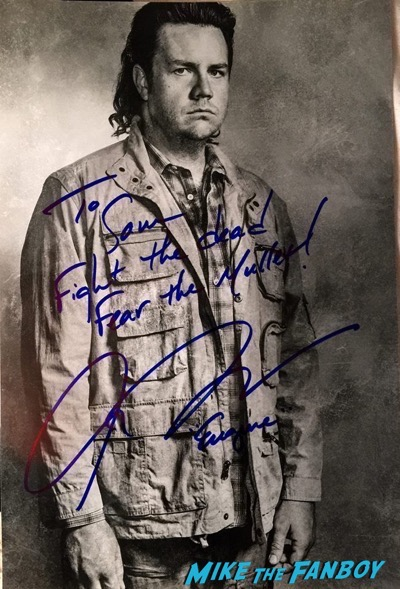 Josh Mcdermitt signed autograph photo Walker Stalker Con8
