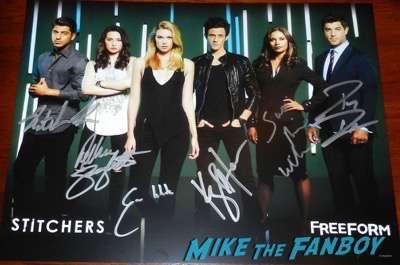 stitchers cast signed autograph poster Wondercon 2016
