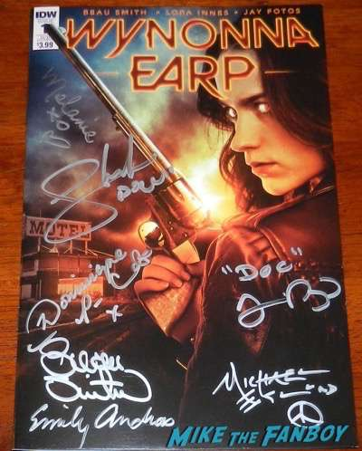 Wynonna Earp signed autograph comic book poster wondercon