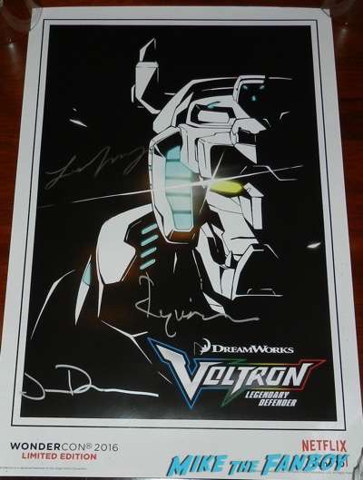 voltron signed autograph comic book poster wondercon