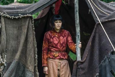 Vikings season 4 episode 7 Yidu, played by Dianne Doane (cr_ Jonathan Hession _ HISTORY)