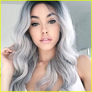 madison-beer-gray-hair-wig-something-sweet-tweets