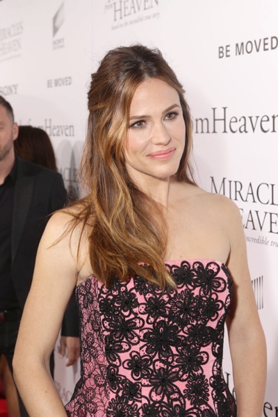 HOLLYWOOD, CA - March 9th, 2016  Jennifer Garner seen at Columbia Pictures world premiere of 'Miracles from Heaven' at ArcLight Hollywood