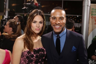 HOLLYWOOD, CA - March 9th, 2016 Jennifer Garner and Producer DeVon Franklin seen at Columbia Pictures world premiere of 'Miracles from Heaven' at ArcLight Hollywood