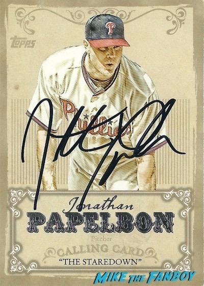 Jonathan Papelbon signed autograph card psa